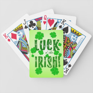 Luck o the Irish Lucky Four Leaf Clovers Cards