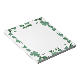 Luck O' the Irish Notepad