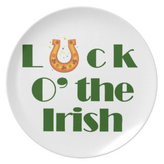 Luck o the irish party plate