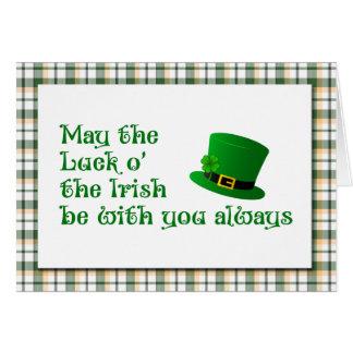 Luck o' the Irish Saint Patrick's Day Card
