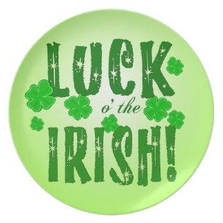 Luck o the Irish Seven Lucky Clovers Plate