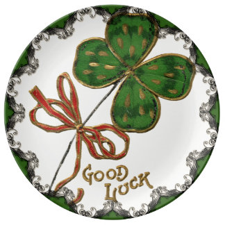 Luck O the Irish St. Patrick's Day Porcelain Plate