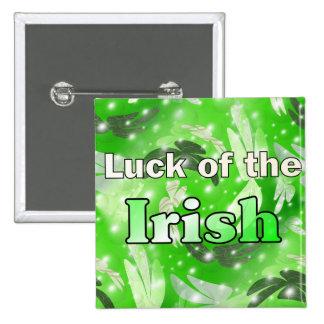 Luck of the Irish 15 Cm Square Badge