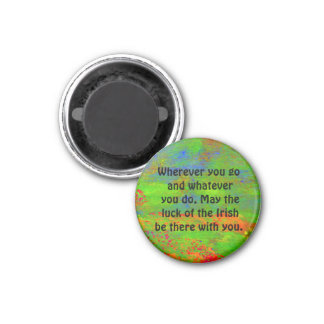 luck of the Irish 3 Cm Round Magnet