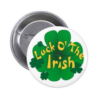 luck-of-the-irish 6 cm round badge