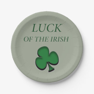 Luck Of The Irish 7 Inch Paper Plate