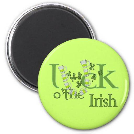 Luck of the Irish Beer Horse Shoe Luck Design Magnet