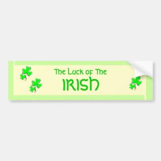 """Luck of the Irish"" Bumper sticker"