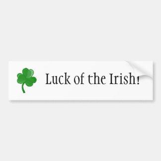 Luck of the Irish! bumper sticker Car Bumper Sticker