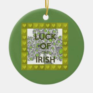 luck of the irish ceramic ornament