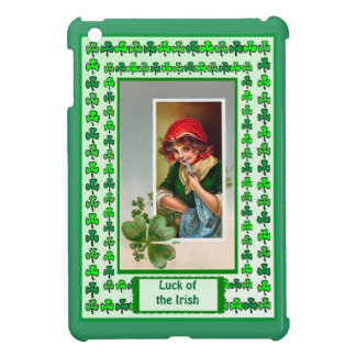 Luck of the Irish - Country girl and shamrock Cover For The iPad Mini
