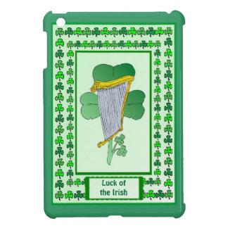 Luck of the Irish - Irish harp and shamrock iPad Mini Cover