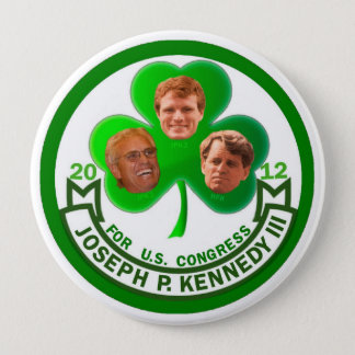Luck of the Irish: Joe Kennedy 3rd for Congress 10 Cm Round Badge