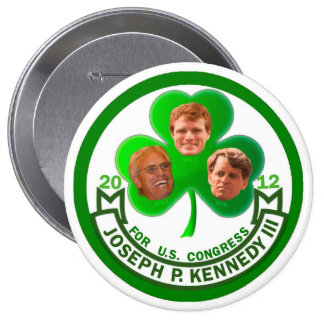 Luck of the Irish: Joe Kennedy 3rd for Congress 10 Cm Round Badge