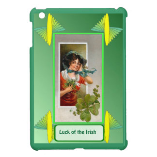 Luck of the Irish - Lady with shamrocks iPad Mini Case
