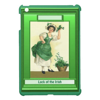Luck of the Irish - Lady with shamrocks Case For The iPad Mini