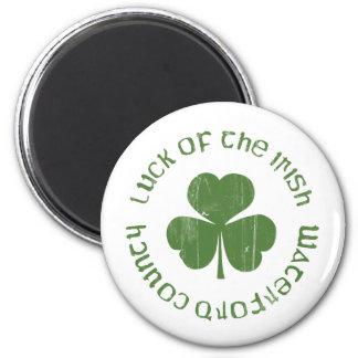 luck of the irish 6 cm round magnet