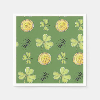 Luck Of The Irish Paper Party Napkins Disposable Serviette
