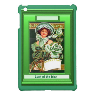 Luck of the Irish - Pretty lady with a rose Cover For The iPad Mini
