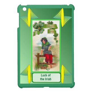 Luck of the Irish - Shamrock seller on the fence Cover For The iPad Mini