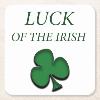 Luck Of The Irish Square Paper Coaster