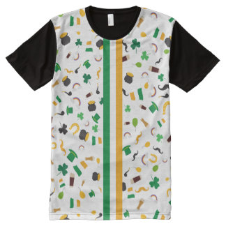 Luck of the Irish- St. Patrick's day All-Over Print T-Shirt