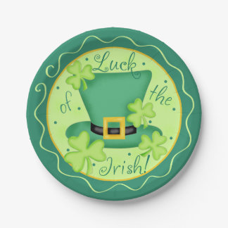 Luck of the Irish St. Patrick's Day Celebration Paper Plate