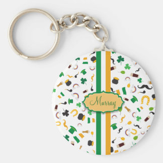 Luck of the Irish- St. Patrick's day irish items Key Ring