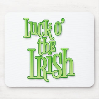 Luck of the Irish St Patrick's Day Mouse Pad