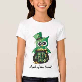 Luck of the Irish St. Patrick's Day Owl! Tees