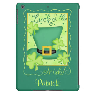 Luck of the Irish St. Patrick's Name Personalized iPad Air Case