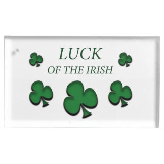 Luck Of The Irish Table Card Holder