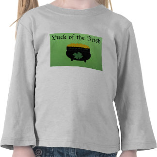Luck of the Irish toddler shirt
