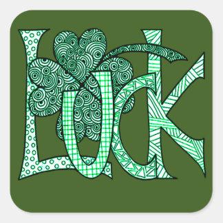 Luck Square Sticker