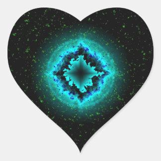 Luck Star and Asterisk Heart Sticker