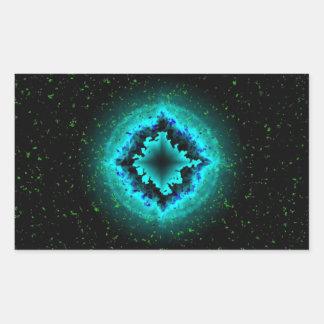 Luck Star and Asterisk Rectangular Sticker