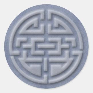 luck symbol round sticker