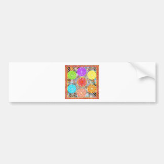 LUCKY7 Blessings Goodluck Chakra Rounds Circles Bumper Sticker