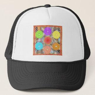 LUCKY7 Blessings Goodluck Chakra Rounds Circles Trucker Hat