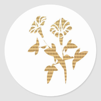 Lucky 10 Golden Flowers Classic Round Sticker