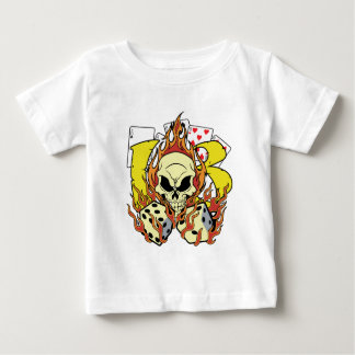 Lucky 13 Dice and Skull Baby T-Shirt