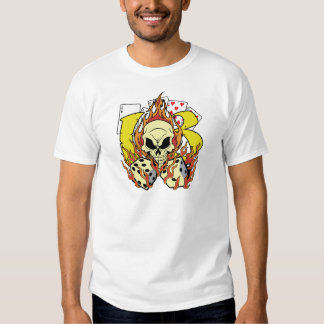 Lucky 13 Dice and Skull Tee Shirts