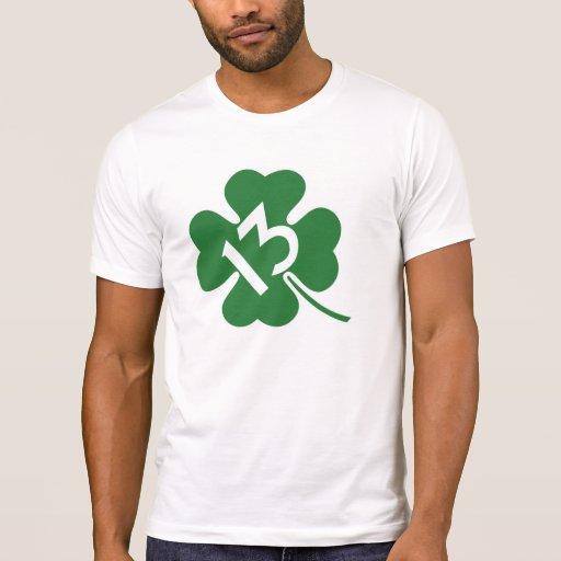 Lucky 13 shamrock tee shirts