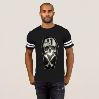 Lucky 13 Skull Gents Football Jersey T-Shirt