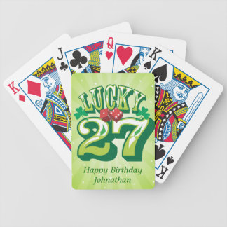 Lucky 27 Custom Bicycle Playing Cards