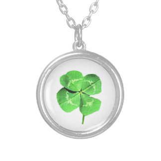 Lucky 4 leaf clover personalized necklace