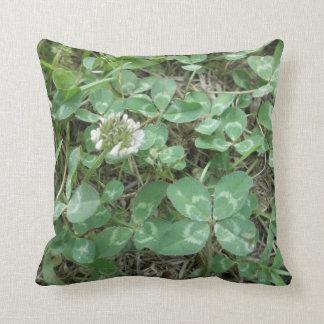Lucky 4 Leaf Clover Shamrock Green Throw Pillows