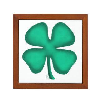 Lucky 4 Leaf Irish Clover desk organizer