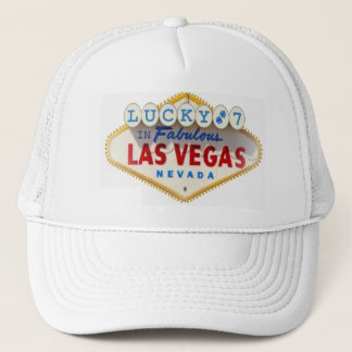 Lucky 7 with Blue Dice In Fabulous Las Vegas Cap