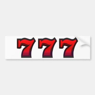 Lucky 7s bumper sticker